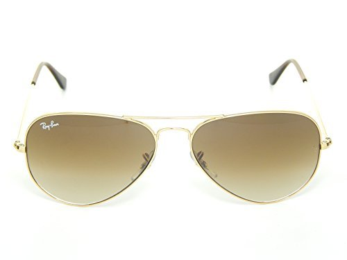 New Ray Ban Aviator RB3025 001/51 Arista/Crystal Brown Gradient 62mm - Aviator Rb3025 62