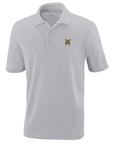 Mountain Lion Embroidery Design Polyester Performance Polo Shirt Platinum Large (Lion Machine Embroidery)