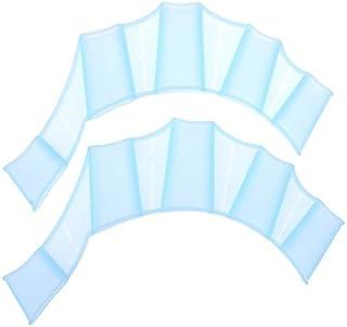 zhang-hongjun,Paire de Gants d'entraînement de Palmes à la Main en Silicone pour la Natation(Color:Bleu Clair,Size:M) Paire de Gants d'entraînement de Palmes à la Main en Silicone pour la Natation(Color:Bleu Clair