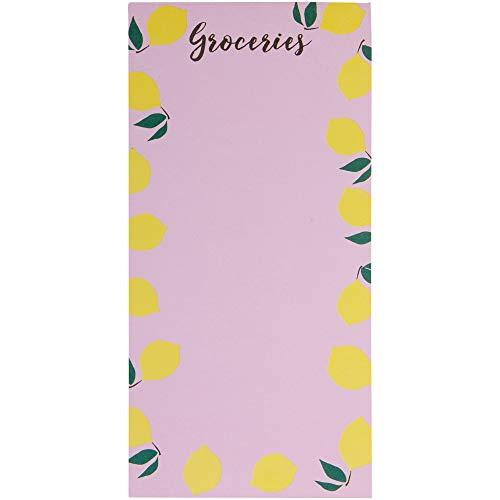 C.R. Gibson 'Pink Lemonade' Magnetic Grocery List Memo Pad, 75 pgs., 4.5