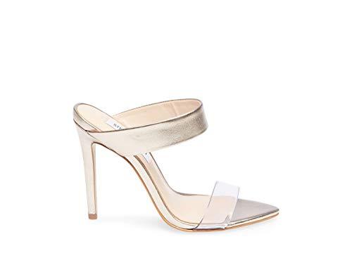 Steve Madden Women's Amaya Sandal, Metallic, 8.5 M US