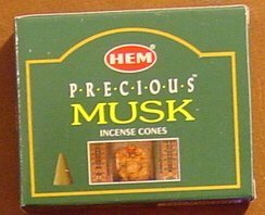 - Precious Musk - Case of 12 Boxes, 10 Cones Each - HEM Incense From India