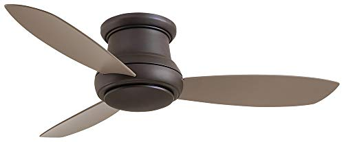 Minka-Aire Concept II Ceiling Fan with Integrated Light, Flush Mount 3 Blade 52