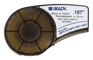 Brady M21-187-C-342-YL Cartridge, B342 Permasleeve Material, .187