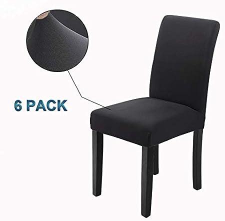Veakii R Fundas para sillas Pack de 6 Fundas sillas Comedor ...