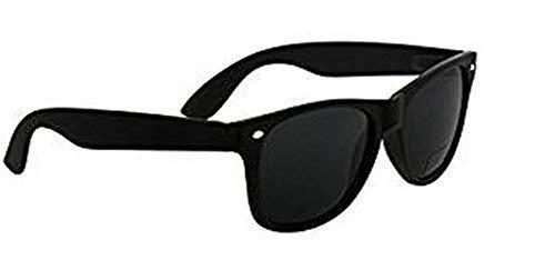 Nero Eyewear klein Erwachsene glatt schwarz polarisiert weich Wayfarer Sonnenbrille dunkel Katze 3 Brillengläser, kompletter UV400 Schutz