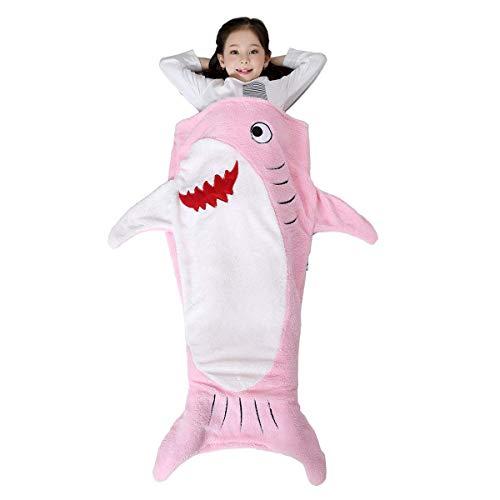 Plush Shark Sleeping Bag (SINOGEM Shark Tail Blanket - Plush Animal Sleeping Bag Blanket Shark Toys for Kids by)