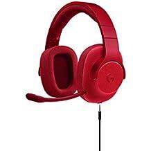 Fone de Ouvido Headset Gamer G433 para Jogo com Som Surround 7.1, Logitech G, Microfones e Fones de Ouvido, Vermelho