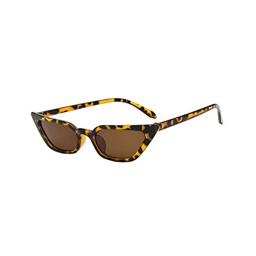 Small Plastic Sunglasses - Livhò Retro Cat Eye Sunglasses for Women Small Shade Plastic Frame UV400 Protection