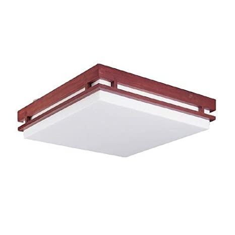 Metalux By Cooper Lighting Amber Stain Mission Square Ceiling Fixture  14u0026quot; ...