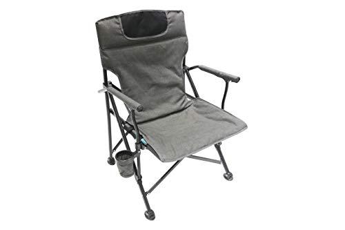 Homecall - Silla de camping plegable acolchada (gris)