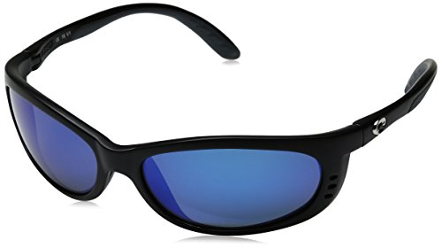 Costa Del Mar Fathom 580G Black/Blue Mirror Polarized Lens - Costa 580 Fathom Del Mar