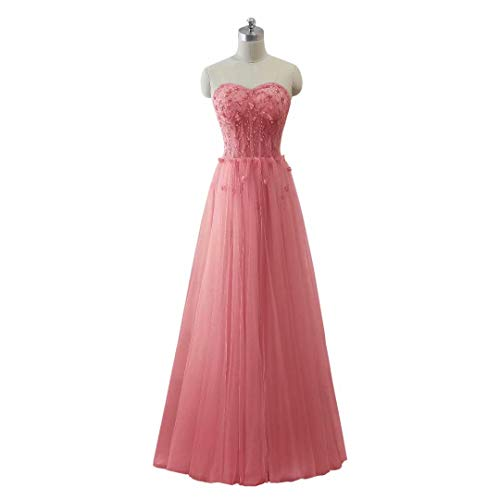 Tulle Long Schatz Love King's Perlen Ballkleider 32 Frauen Maxi Formal Abendkleid tTwawqFU