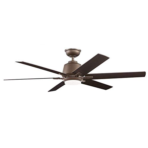 Home Decorators Collection Kensgrove 54 in. Integrated LED Indoor Espresso Bronze Ceiling Fan with Light Kit and Remote Control Collection Ceiling Fan Motor Housing