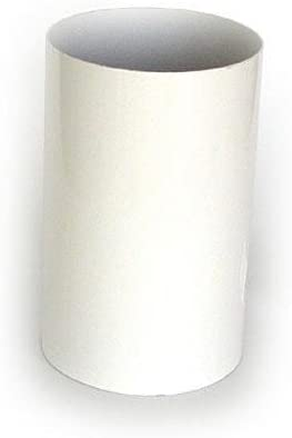 Tubo Liso 20Cm 125Mm Aluminio Blanco Vacuflex