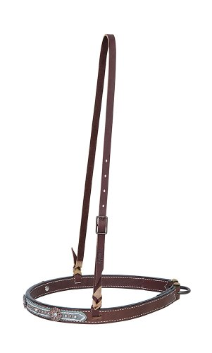 [Weaver Leather Savannah Noseband, Metallic Turquoise/Brown] (Inspired Bridle)