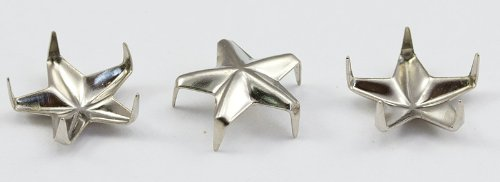"8mm SILVER 3/8"" STAR BEDAZZLER STUDS - 100 Pieces"