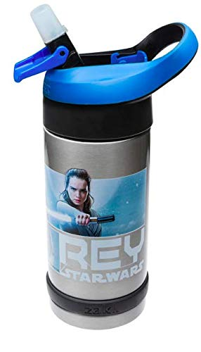Designs Star Wars 13.5 oz Stainless Steel Insulated Water Bottle REY Approx. 8 Tall Zak