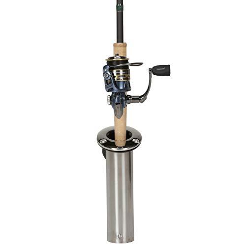 Attwood 66364-7 Stainless Steel Flush Mount 0 Degree Rod Holder (2-Inch)