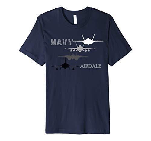 Navy Airdale Fighter Jets Premium T-Shirt ()