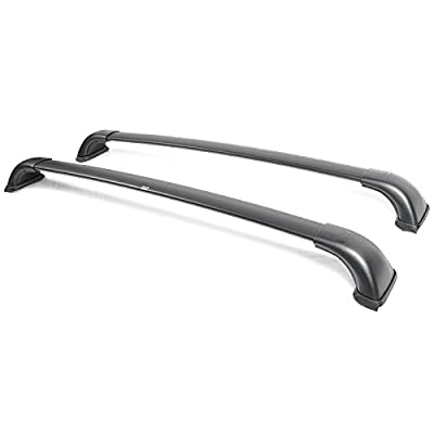 Toyota Highlander LE 14-15 Roof Top Rack Cross Bar Luggage Carrier Black