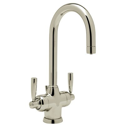 (Rohl U.1335LS-STN-2 Perrin and Rowe Single Hole Bathroom Faucet with Triflow Technology, Satin Nickel)