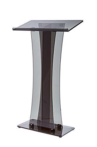 AdirOffice Acrylic Stand up, Floor-Standing Podium, Lectern (See Through Black) by AdirOffice (Image #2)