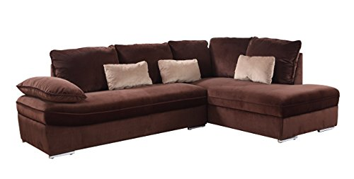 classic large brush microfiber l shape sectional sofa couch with chaise lounge best sofas. Black Bedroom Furniture Sets. Home Design Ideas