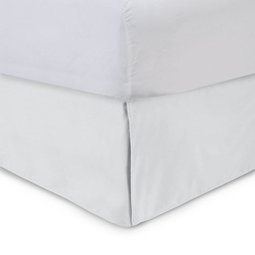 Harmony Lane Tailored Bedskirt - 14 inch Drop, Full, White Bed Skirt with Split Corners (Available in and 16 Colors) 14 Inch Drop Full Bedskirt