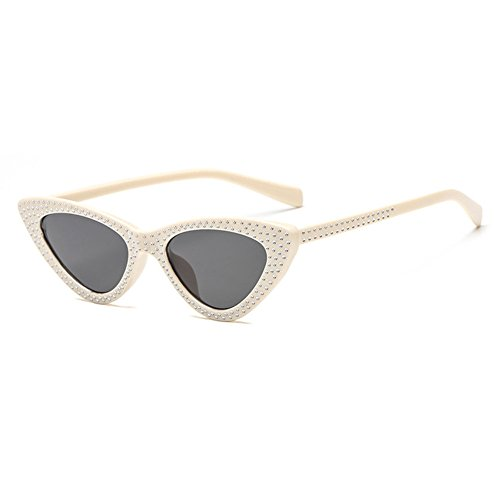 Cool Anteojos Eye Cat Gafas C8 UV400 Sunglasses pequeño juqilu Marco Mujeres Triángulo fn1Zf8r