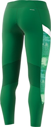 adidas Women's Training Wow Drop Tights, Core Green/White, X-Small by adidas (Image #2)