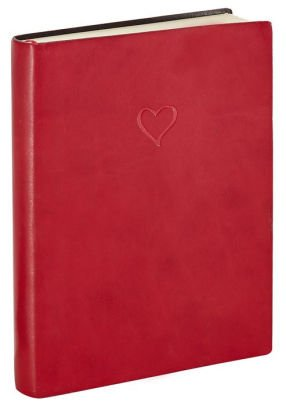 (Italian Leather Journal Red Heart Lined)