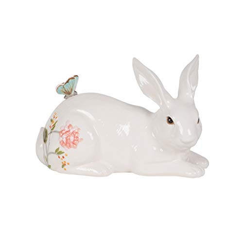 Fitz and Floyd Butterfly Fields Resting Rabbit Figurine, Assorted