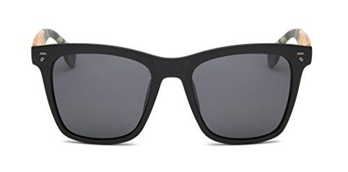 Vidan men and women 80s classic retro polarized sunglasses, 100% anti-UV driving mirror 667 (Yellow mirror legs / dark gray lenses, - 80s Wrap Sunglasses Around