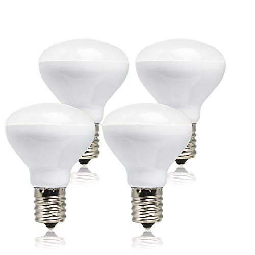 R14 LED Bulb E17 Intermediate Base Mini Reflector, 4 Watt 280 Lumens, 25 Watt Incandescent Equivalent, R14 E17 LED Light Bulb Non-dimmable 3000K Warm White (4 Pack)
