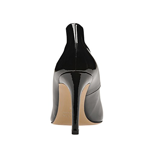 Negro Evita mujer Piel negro Shoes de Zapatos para vestir de wPq84w