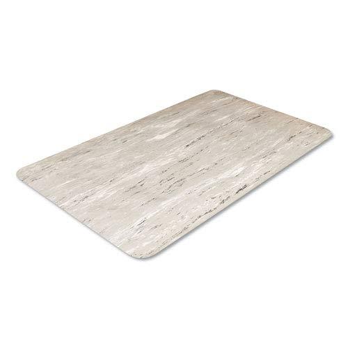 Cushion-Step Surface Mat, 36 x 72, Marbleized Rubber, Black