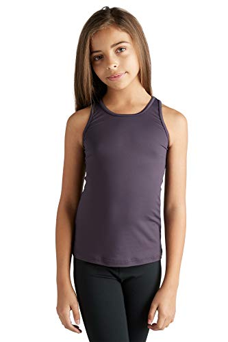 508ffc6bcd Liakada Girls Wide Strap Tank Top with Integrated Bra Shelf Liner Dance