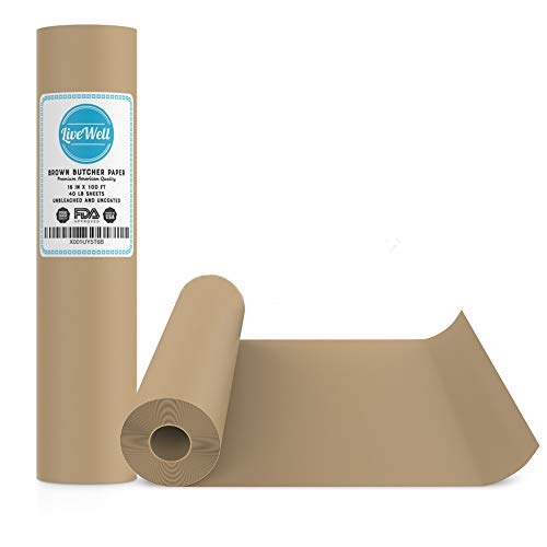 Brown Kraft USA Paper Roll - 18In x 100Ft - Gift Wrapping, A