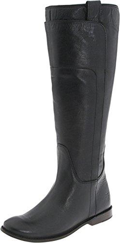 Frye Women's Paige Tall Riding Boot - Black Calf Shine-77...