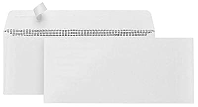 500#10 Self Seal Security Envelopes-Designed for Secure Mailing-Security Tinted with Printer Friendly Design- 4 1/8 x 9 ½''
