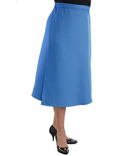 Silverts Disabled Elderly Needs Adaptive Wrap Skirt with Adjustable Closures - Cool Blue XL