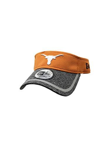 Texas Longhorns New Era Adjustable Training Visor NCAA Curve Brim Visors (One Size, Burnt Org/Grey/White)