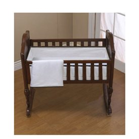 Babykidsbargains Forever Mine Cradle Bedding, Brown Trim, 18