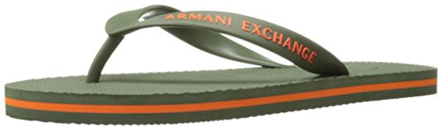 A|X Armani Exchange Mens Armani Exchange Solid Flip Flop Thyme/Flame