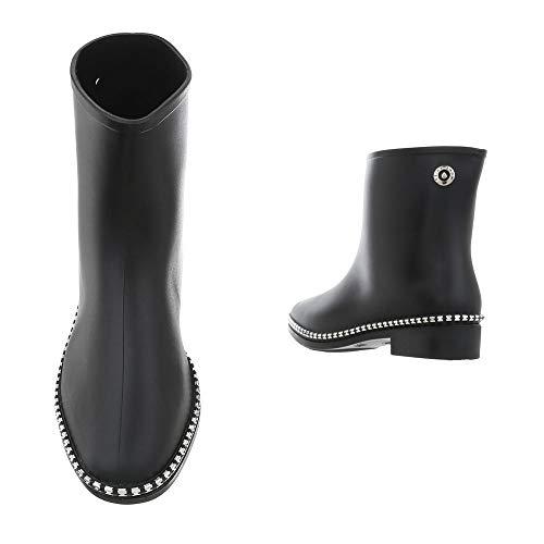 Schwarz Bottines D52p Bottes Femme Bloc Et design Ital De Pluie Chaussures nxzRvHwx