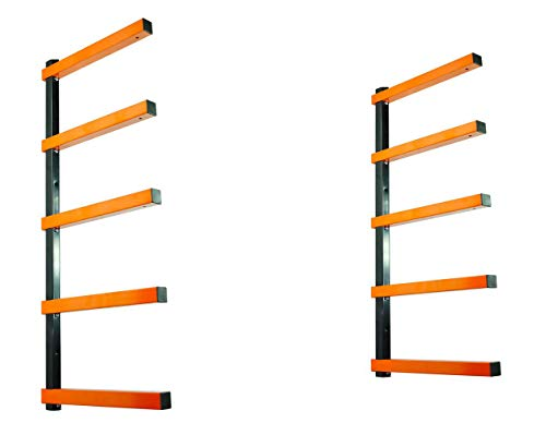 KASTFORCE KF1005 Lumber Storage Rack 5-Level System 110lbs per Level Lumber Rack Wood Rack Workshop Rack with Durable Sheet Metal Screws