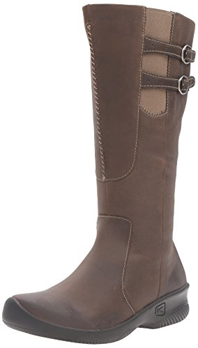 KEEN Women's Bern Baby Wide Calf Boot, Oatmeal, 5 M US Brown Baby Calf Leather Shoes