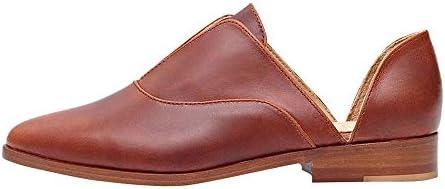 [해외]Aniywn Women Flat Shoes Leather Slip On Comfort Casual Pointed Toe Flats Breathable Non-Slip Office Dress Brown / Aniywn Women Flat Shoes Leather Slip On Comfort Casual Pointed Toe Flats Breathable Non-Slip Office Dress Brown