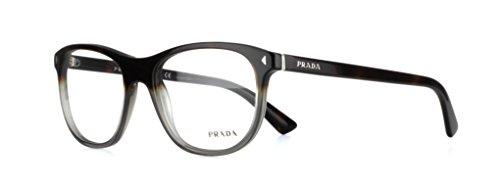 Prada Journal Eyeglasses PR17RV TKT1O1 Dark Havana Gradient Opal Grey 56 19 - Journal Prada Glasses